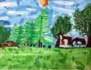 2 место – Гринченко Марина, 9 лет, г. Дальнегорск, название работы «Уголок моей Родины»
