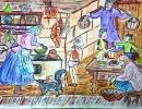2 место – Сулоева Прасковья, 10 лет, г. Дальнегорск, название работы «Празднование пасхи»