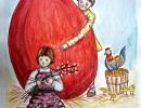 3 место – Батурина Анна, 17 лет, с. Сержантово Дальнегорского района, название работы «Пасхальные традиции»