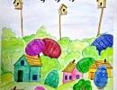 3 место – Голотина Юлия, 12 лет, с. Милоградово Ольгинский район, название работы «Солнечная Пасха»