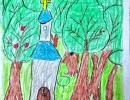 3 место – Хомутов Владимир, 7 лет, г. Арсеньев, название работы «Кафедральный собор»
