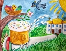3 место – Михайлова Анастасия, 10 лет, с. Чернышевка Анучинского района, название работы «Светлая Пасха»-raboty-«svetlaya-pasha»