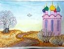 3 место – Миронова Арина, 13 лет, с. Маргаритово Ольгинского района, название работы «Верба распустилась…В храме ждут чудес…»