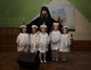 Владыка Гурий с детьми в Детской школе искусств г. Арсеньева, 2013 год