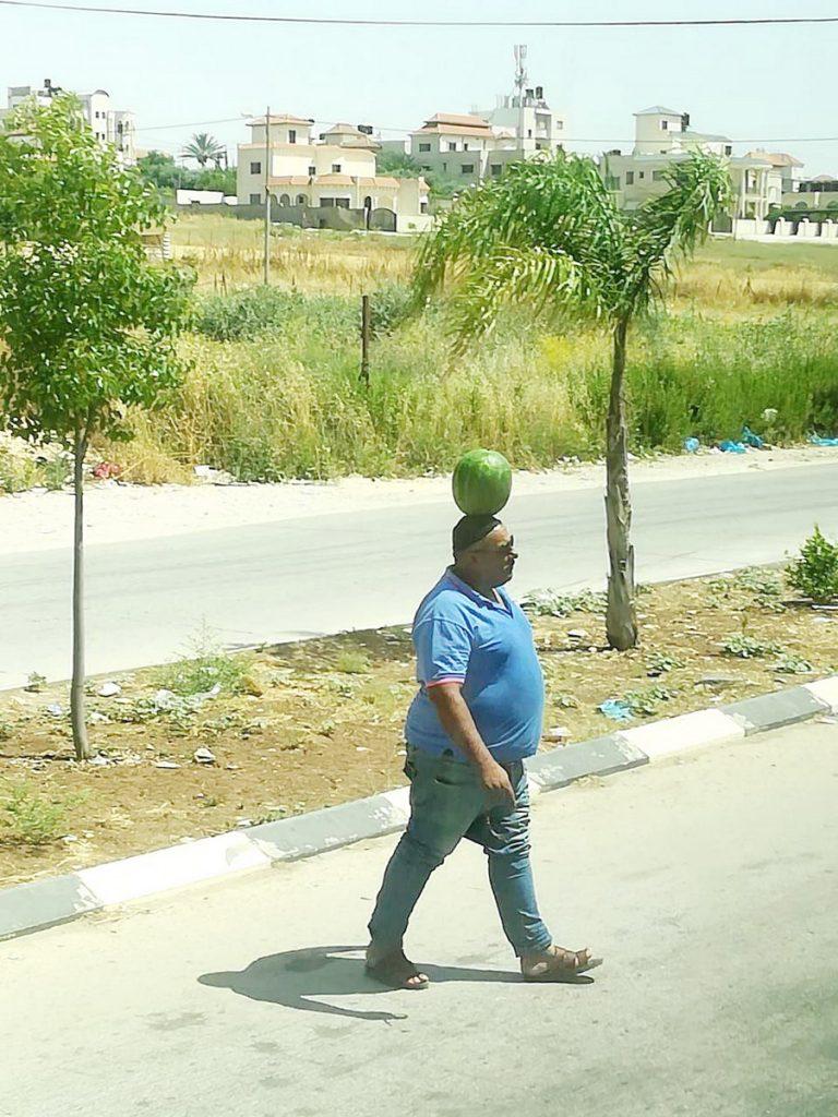 Торговец арбузами в Наблусе